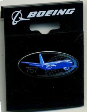 Boeing 767 Oval Pin
